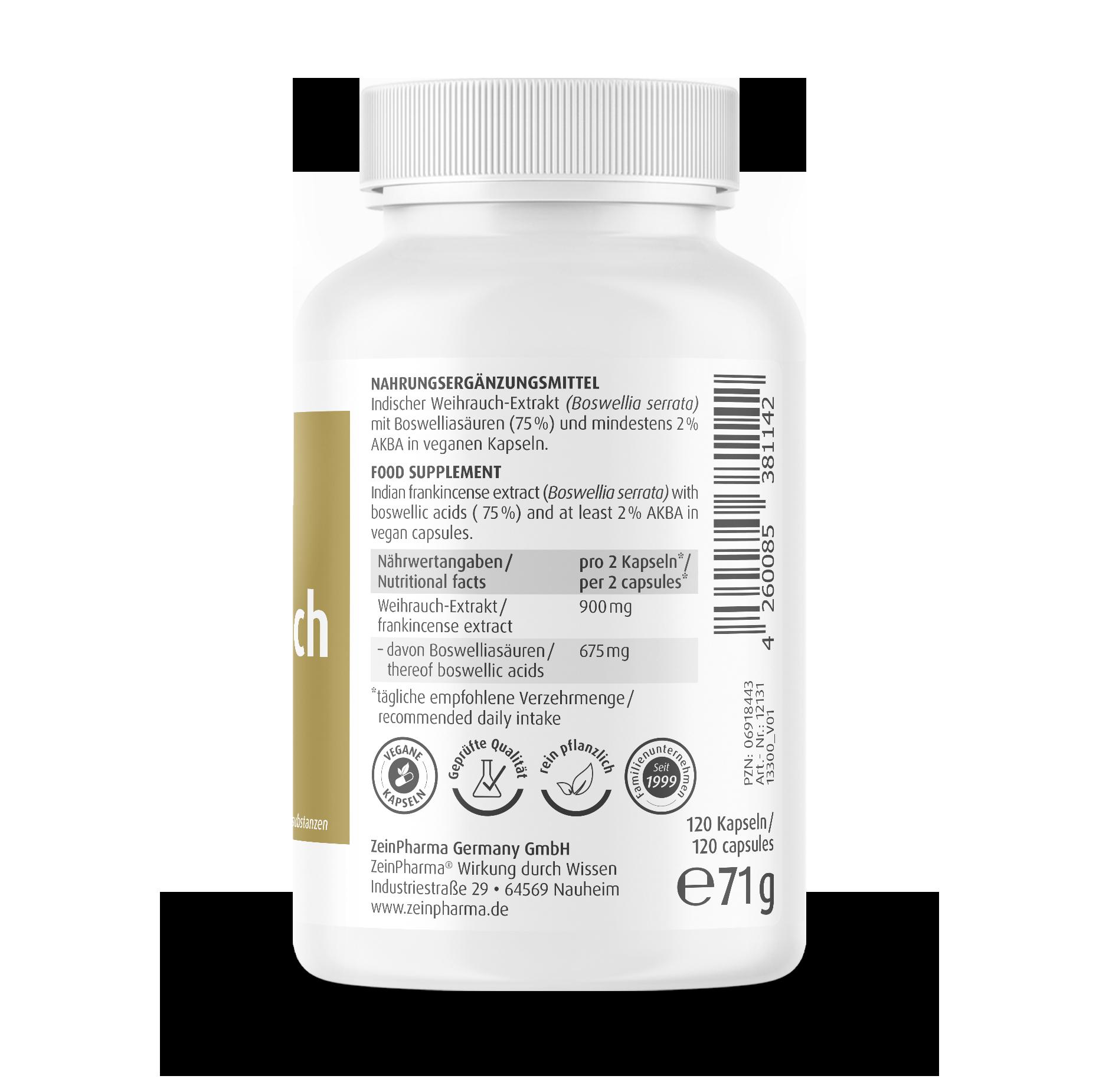 Frankincense Capsules 450 mg