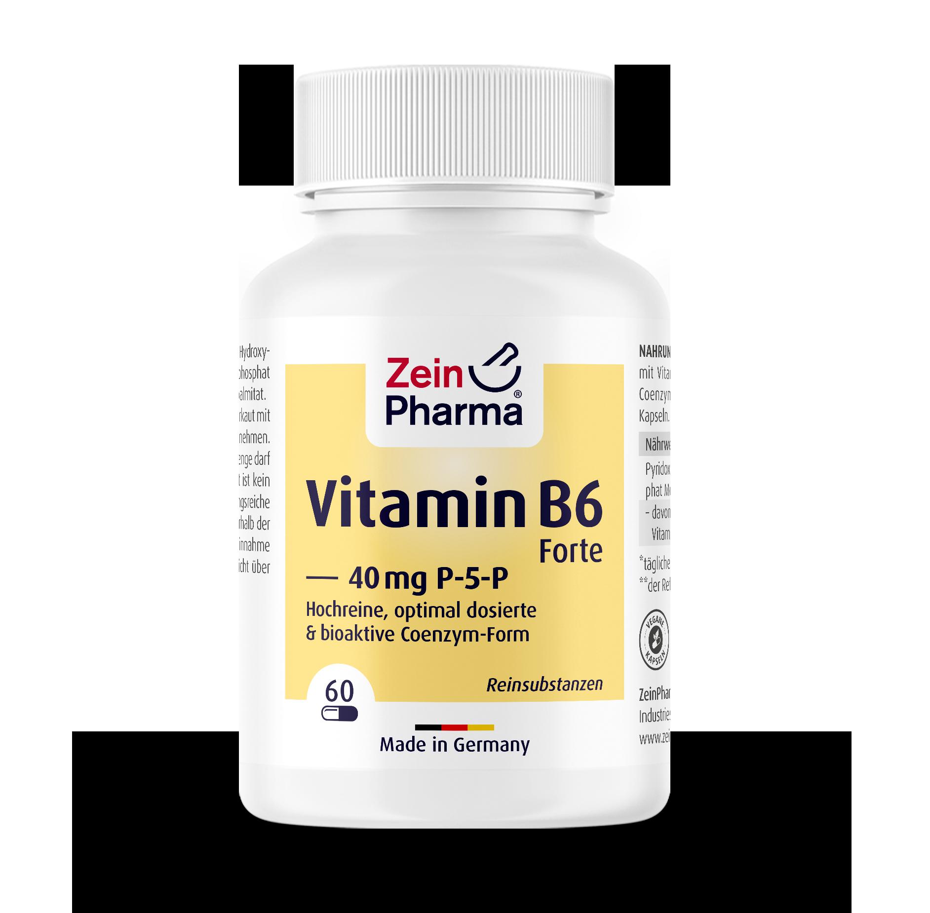 Vitamin B6 Forte (P-5-P) 40 mg Capsules