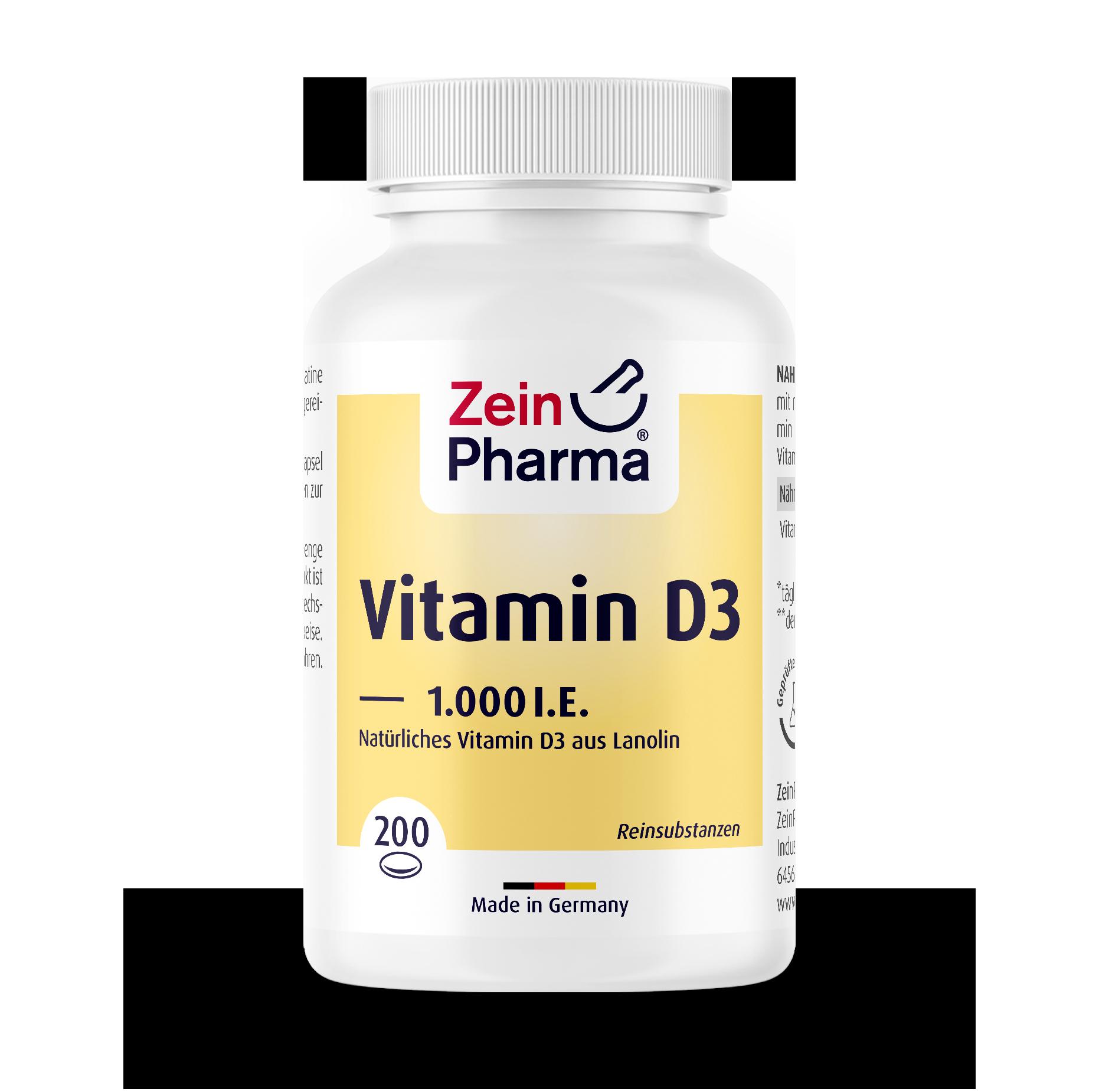 Vitamin D3 1.000 I.U. Softgel Capsules