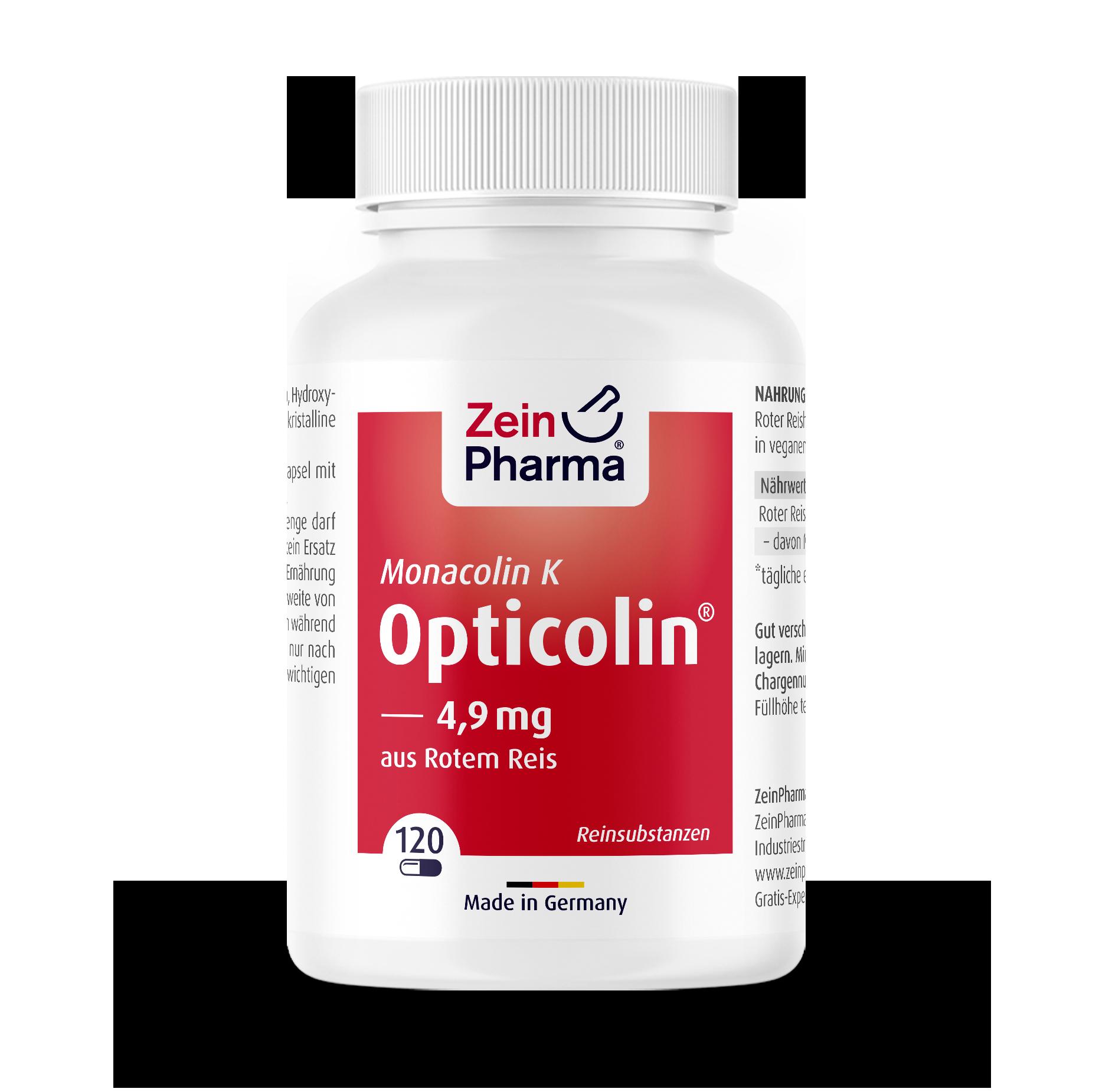 Monacolin K Opticolin Capsules 4,9 mg