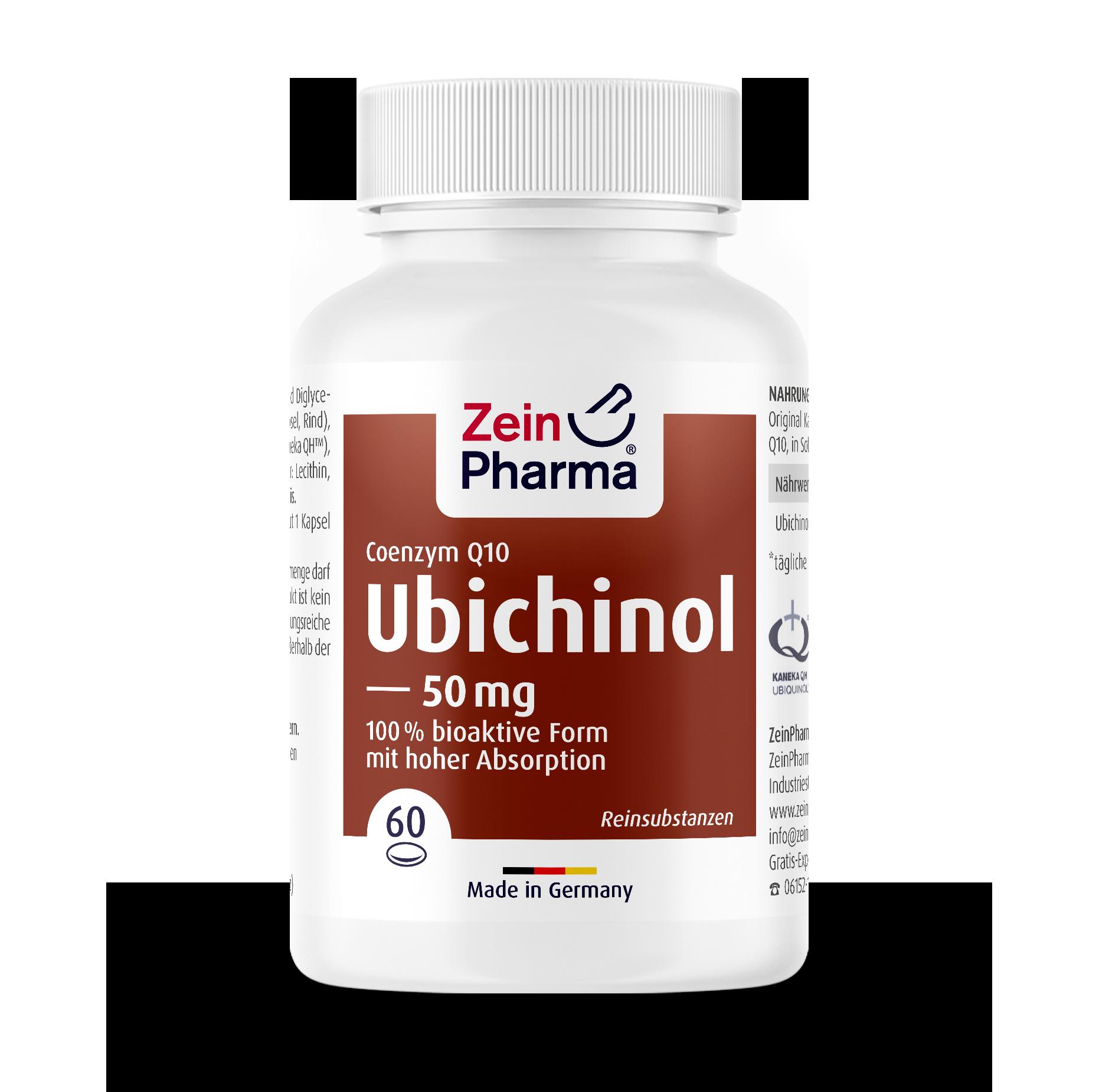 Coenzyme Q10 Ubichinol 50 mg Softgel Capsules