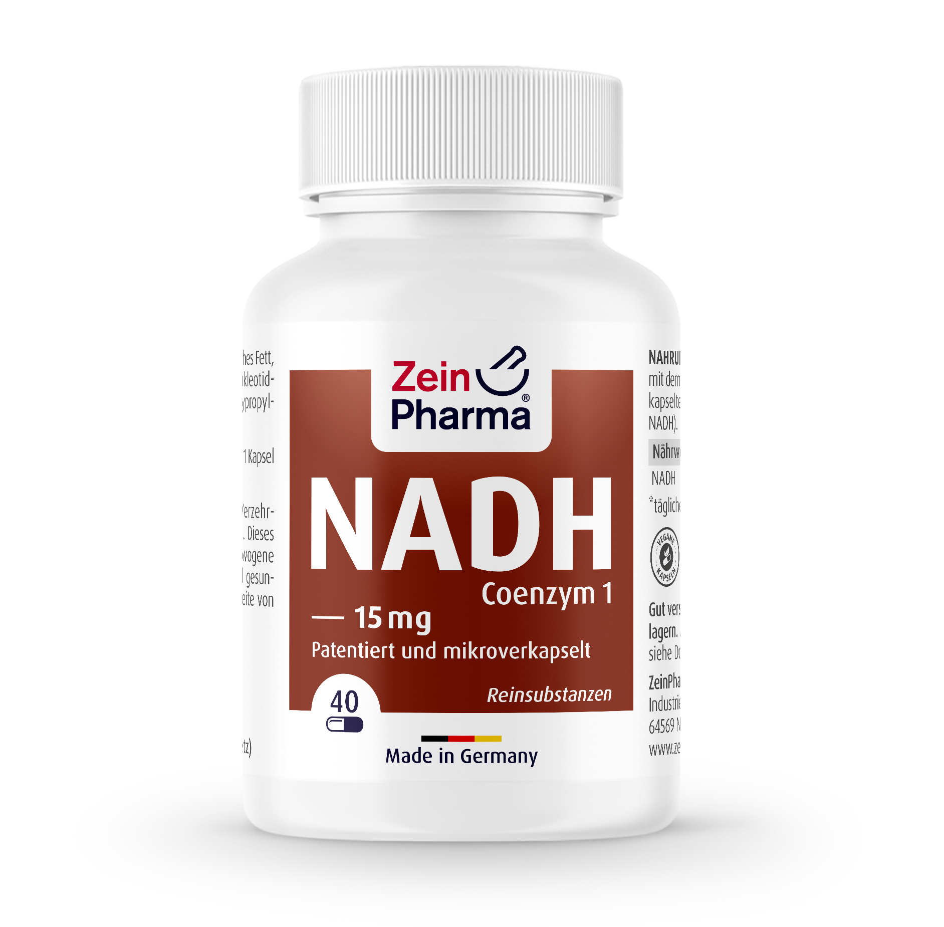 NADH (Coenzyme 1) Capsules 15 mg