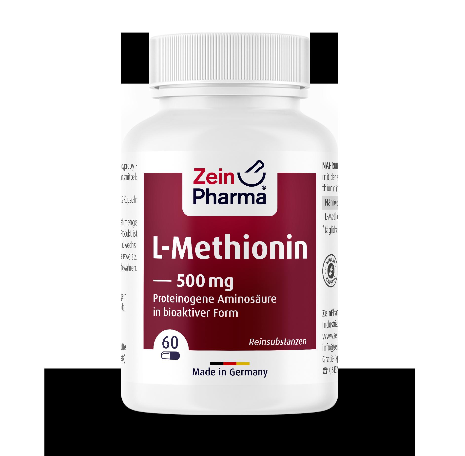 L-Methionine 500 mg Capsules