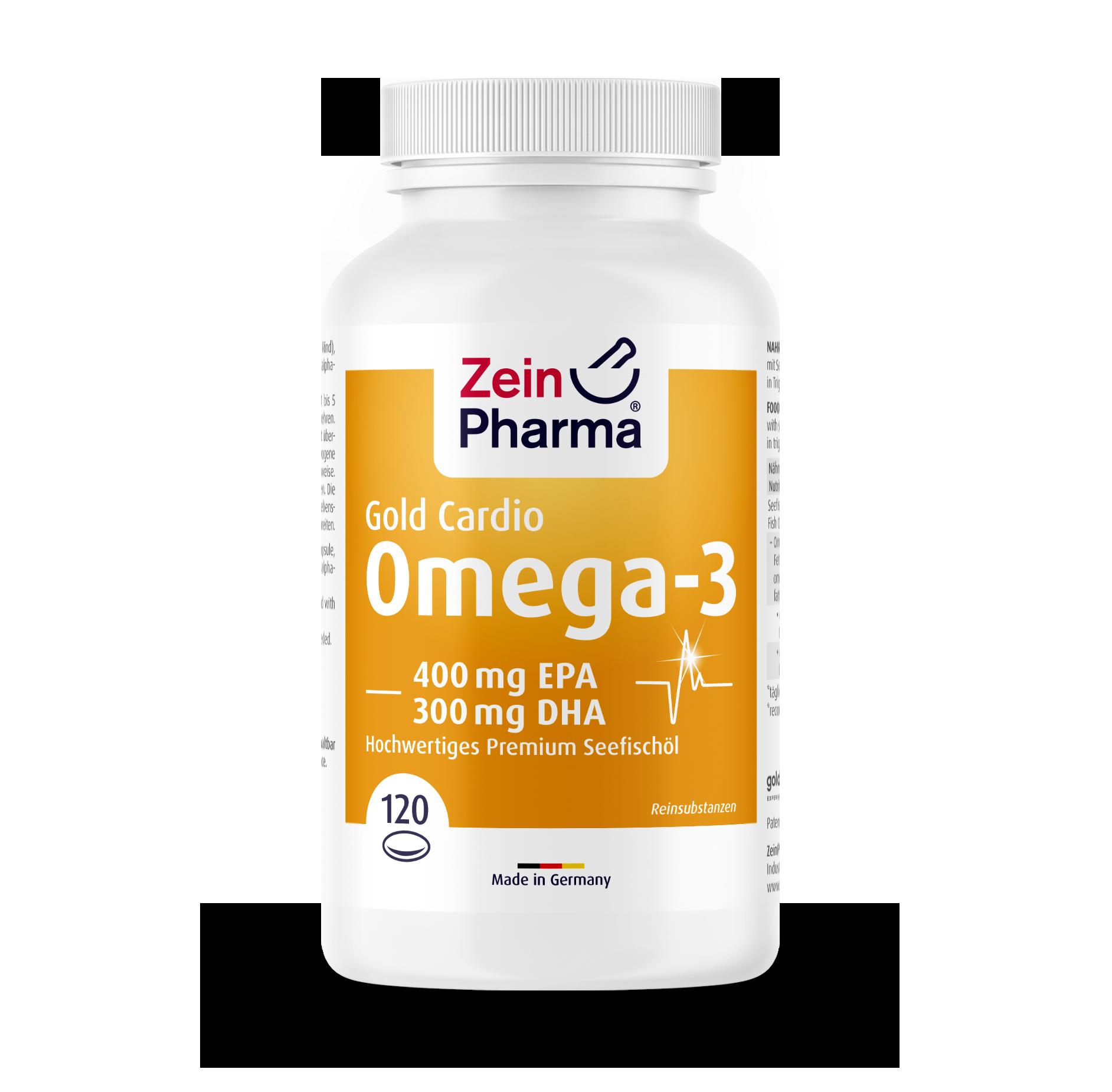 Omega-3 Gold Softgel Capsules - Cardio Edition