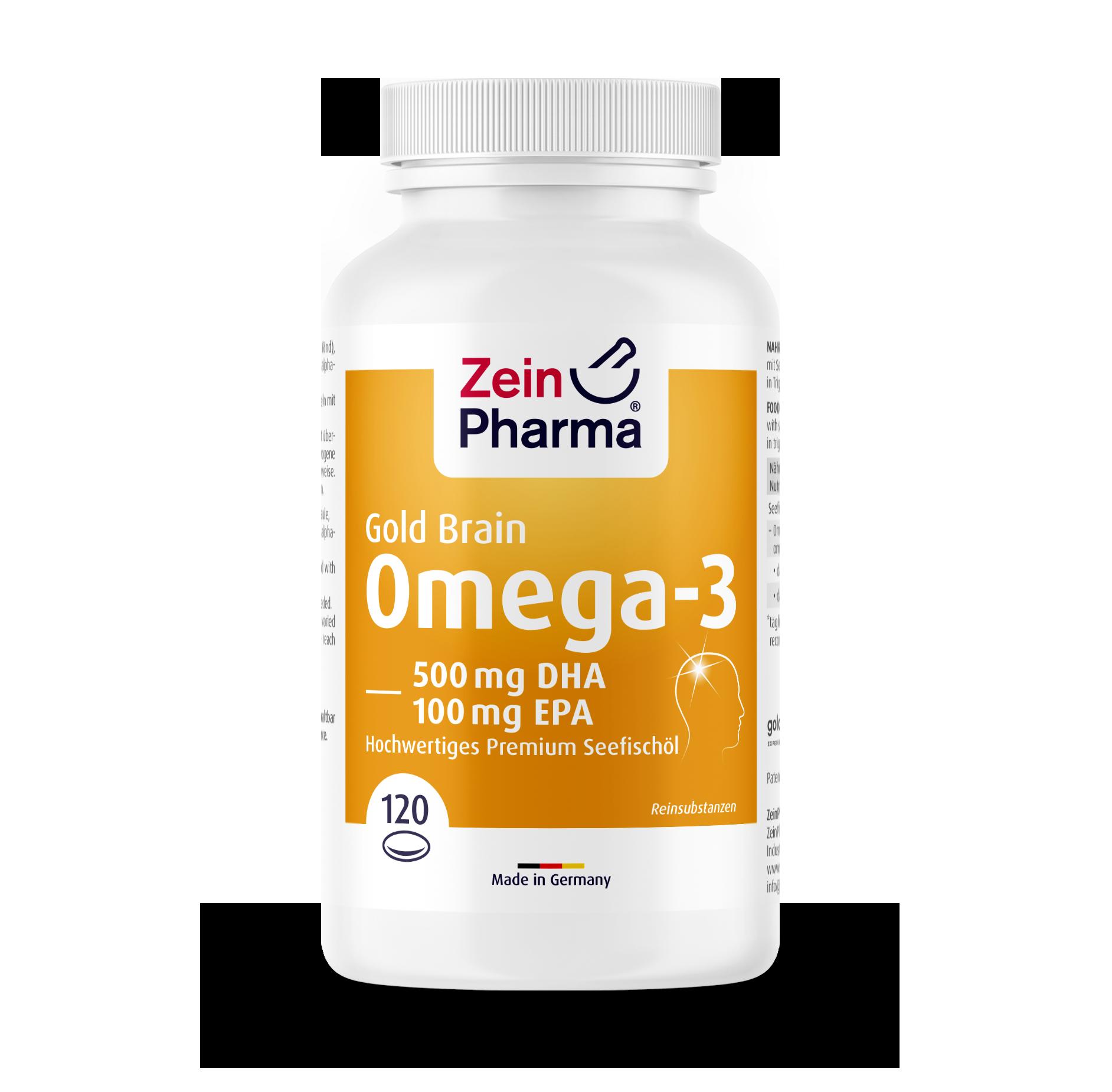 Omega-3 Gold Softgel Capsules - Brain Edition