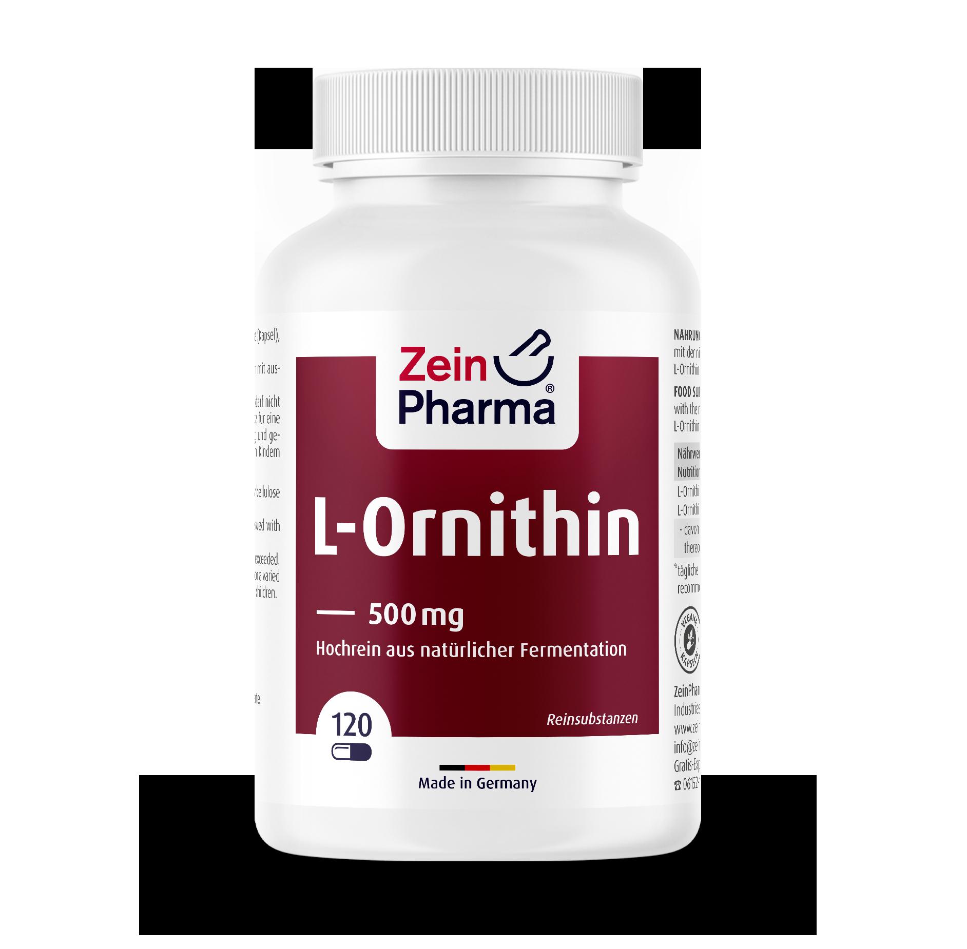 L-Ornithine 500 mg Capsules
