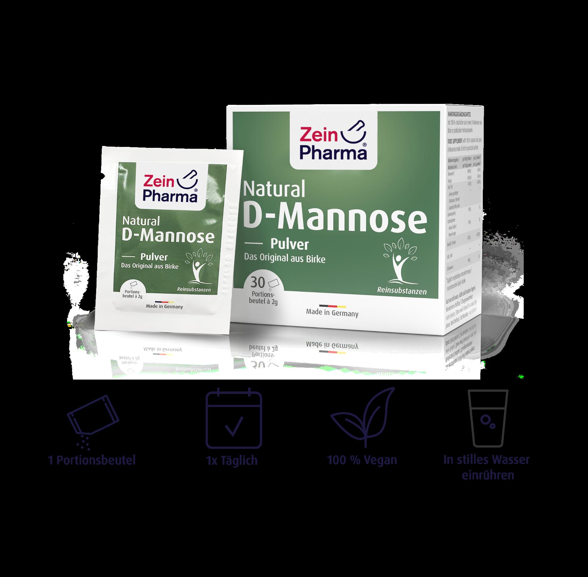 Natural D-Mannose Sachets 2 g
