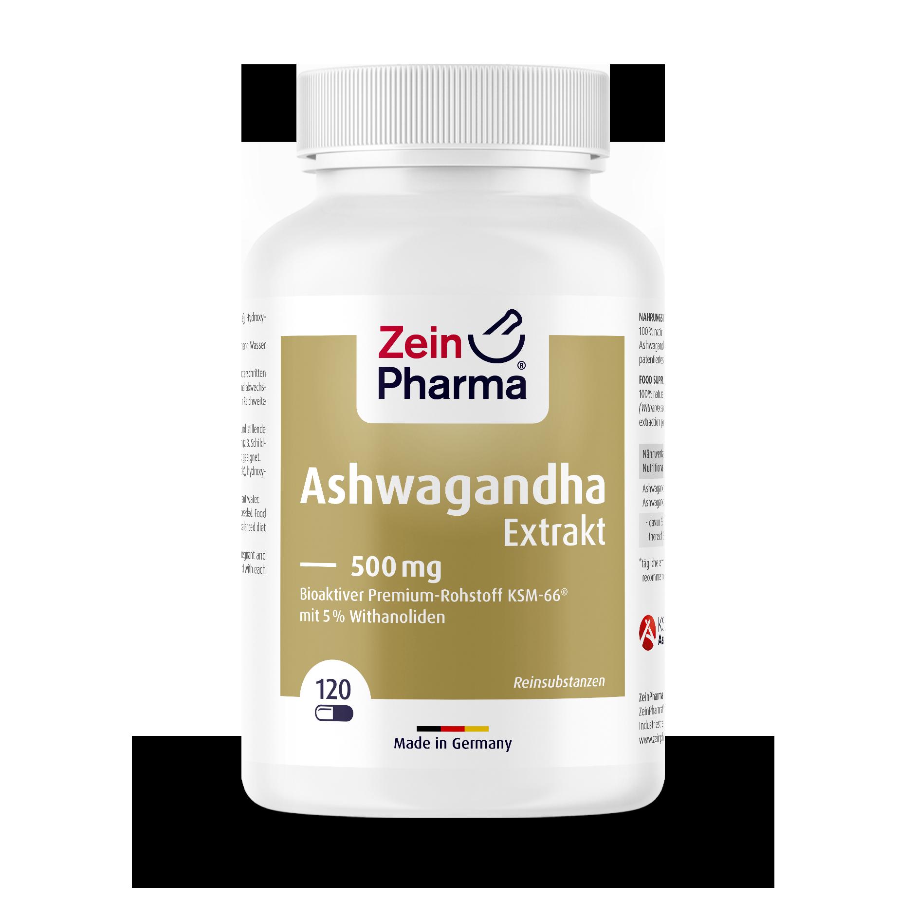 Ashwagandha Extract 500 mg Capsules