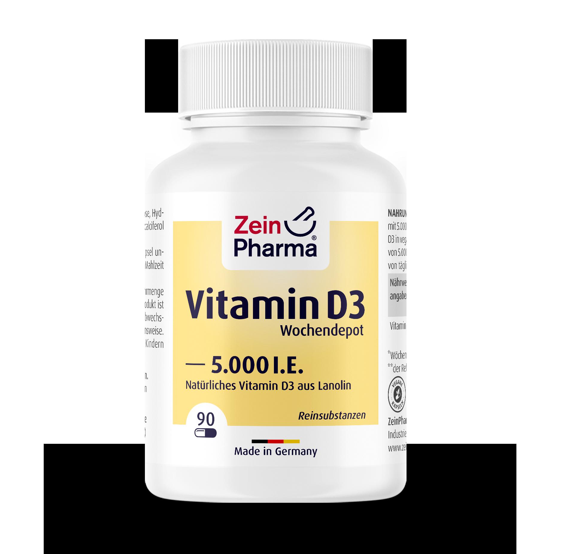 Vitamin D3 Weekly Depot Capsules 5000 I.U.