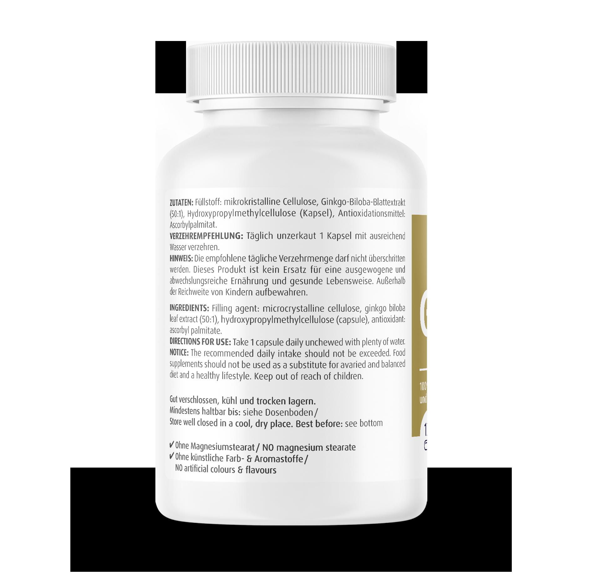 Ginkgo Biloba Capsules 5000 mg