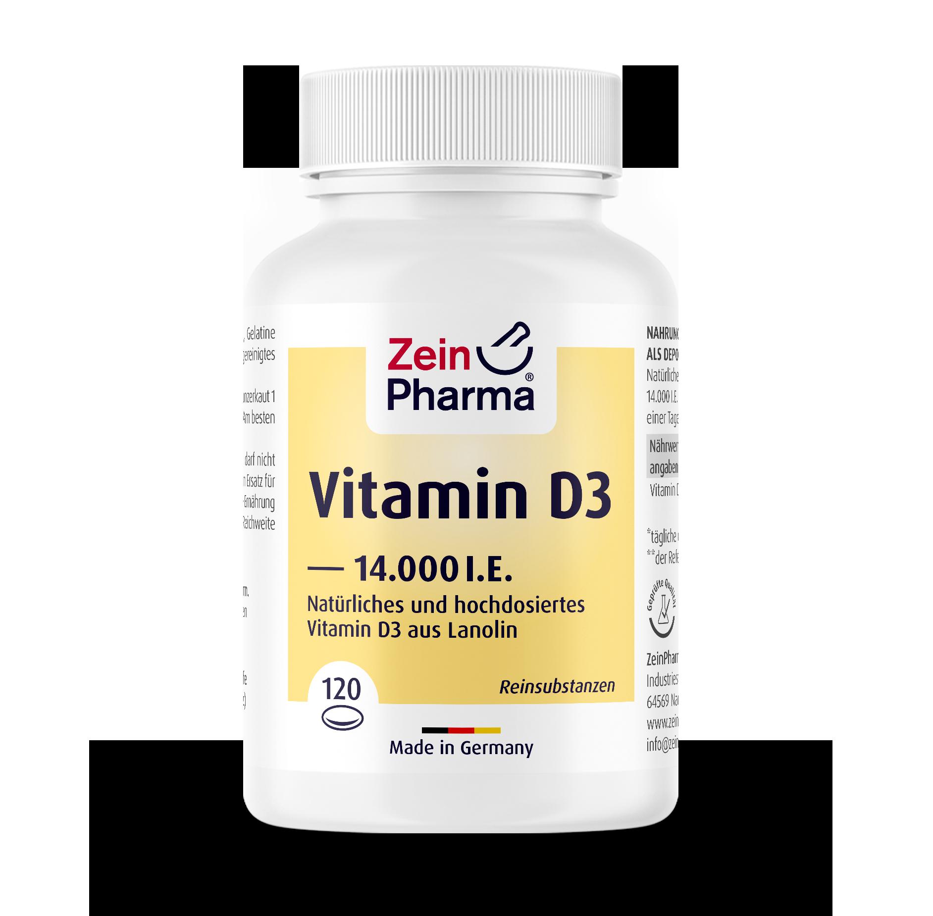 Vitamin D3 14.000 I.U. Softgel Capsules