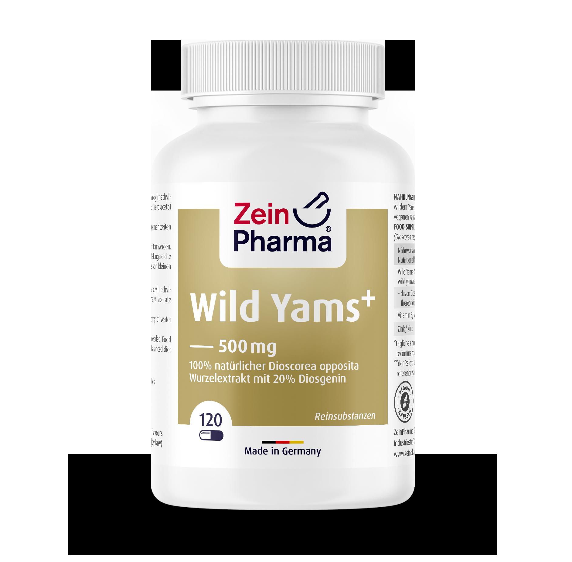 Wild Yams Plus Capsules 500 mg