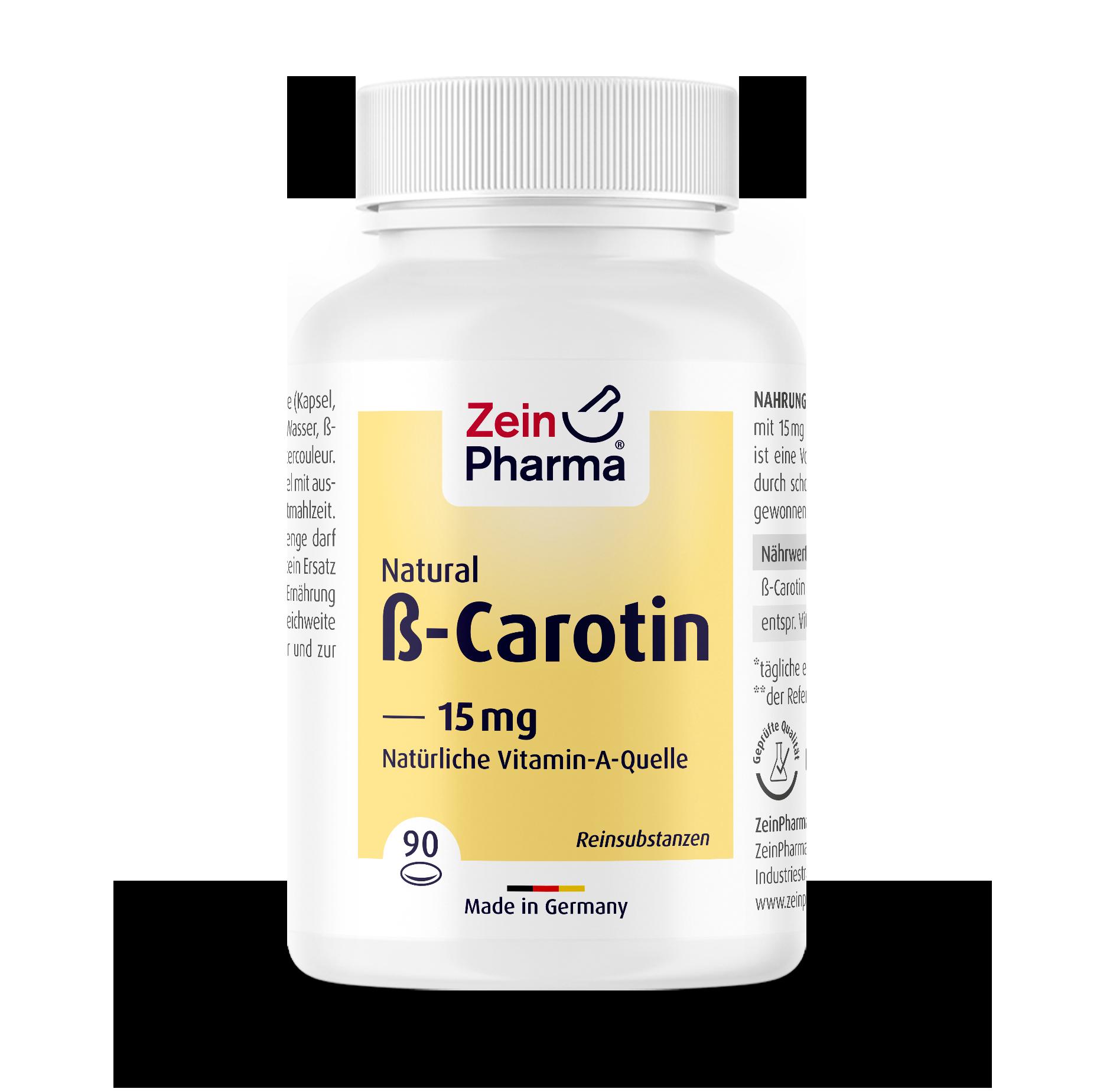 Beta Carotene Natural 15 mg Capsules